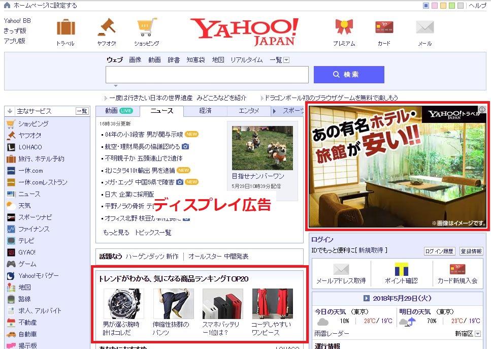 <Yahooディスプレイ広告例>